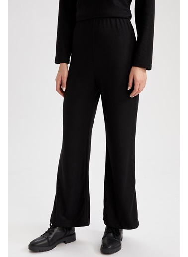 DeFacto İspanyol Paça Örme  Pantolonu Siyah